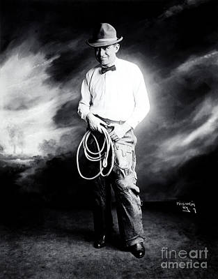 Photograph - Will Rogers by Photo Researchers