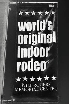 Photograph - Will Rogers Rodeo Bw by Rospotte Photography