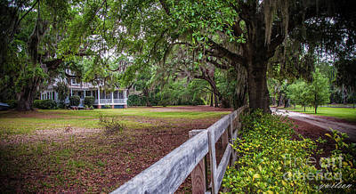 Overhang Digital Art - Will Town Bluff Plantation Home IIi by Yvette Wilson