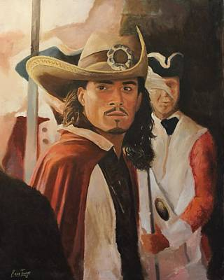 Orlando Bloom Painting - Will Turner by Caleb Thomas