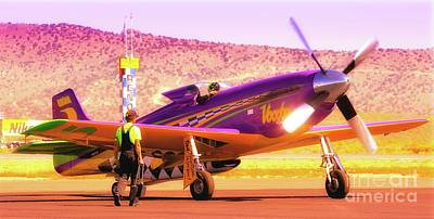 Reno Air Races Photograph - Will Whiteside And P-51 Mustang 'voodoo' by Gus McCrea