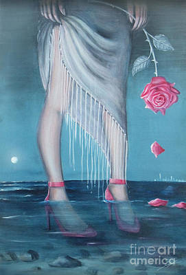 Art Print featuring the painting Will You Be My Valentine by S G