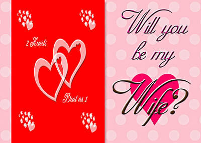 Digital Art - Will You Be My Wife by Judy Hall-Folde