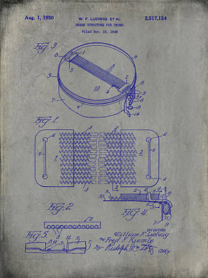 Digital Art - Willam F Ludwig Snare Structure Patent by Paulette B Wright
