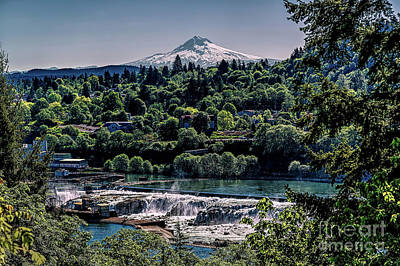 Photograph - Willamette River Falls Locks by Jon Burch Photography