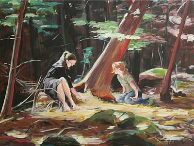 Painting - Willard Brook State Park by Trina Teele
