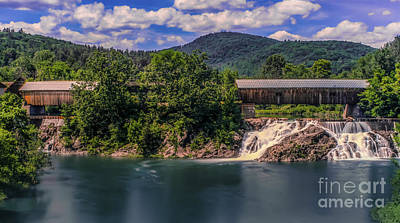 Photograph - Willard Covered Bridges by Scenic Vermont Photography