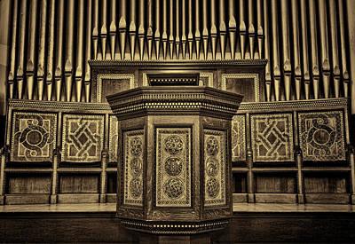 Willard Memorial Chapel Pulpit And Organ #2 Art Print by Stephen Stookey