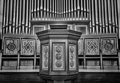 Willard Memorial Chapel Pulpit And Organ #3 Art Print by Stephen Stookey