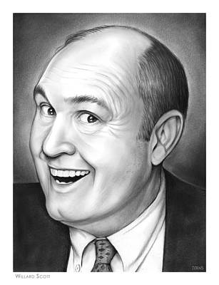 Author Drawing - Willard Scott by Greg Joens