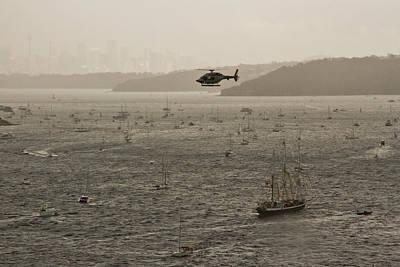 Photograph - Sydney Harbour Awaits Tall Ships by Miroslava Jurcik