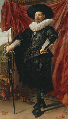 Regalia Painting - Willem Van Heythuyzen by Frans Hals