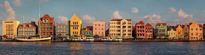Holland Photograph - Willemstad Curacao Panoramic by Adam Romanowicz