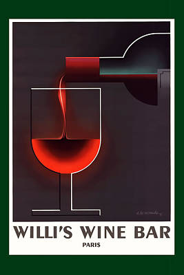 Photograph - Willi's Wine Bar Paris by Tom Prendergast