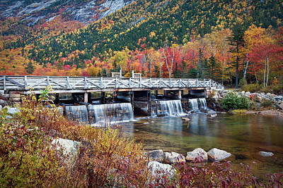 Damn Photograph - Willey Pond Damn Foliage by Eric Gendron