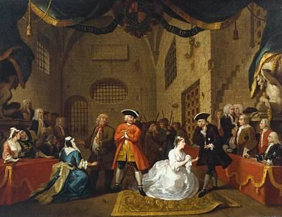 Hogarth Painting - Williaa Scene From The Beggar Opera  Vim Hogarth by William Hogarth