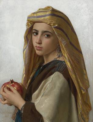 Painting - William-adolphe Bouguereau 1825-1905 -  The Arabian by Celestial Images