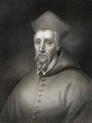 Cardinal Drawing - William Allen 1532-1594. English by Vintage Design Pics