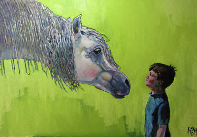 Painting - ' William And A Horse' by Kevin McKrell