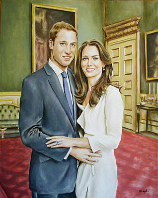 Cambridge Painting - William And Kate by Andy Lloyd
