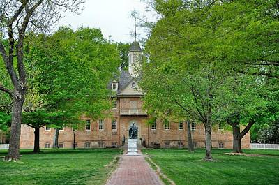 William And Mary Art Print by Todd Hostetter