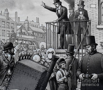 William Booth Preaching In The Open Air Art Print