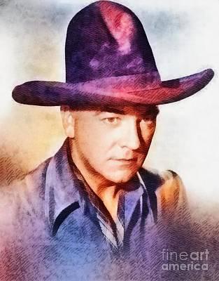 William Boyd, Vintage Hollywood Actor Art Print