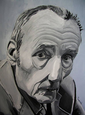 Painting - William Burroughs by Mary Capriole