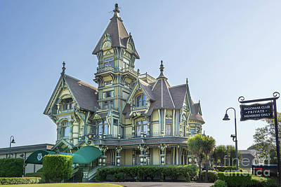 Photograph - William Carson Mansion Victorian Eureka California Dsc5410v1 by Wingsdomain Art and Photography