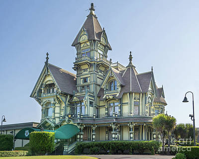 Photograph - William Carson Mansion Victorian Eureka California Dsc5410v2 by Wingsdomain Art and Photography