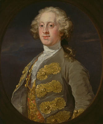 Painting - William Cavendish, Marquess Of Hartington, Later 4th Duke Of Devonshire by William Hogarth