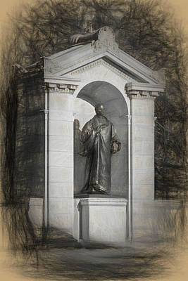 Drawing - William Ellery Channing Monument by Thomas Logan