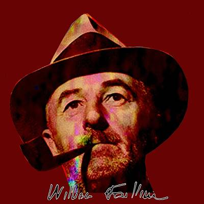 Digital Art - William Faulkner by Asok Mukhopadhyay