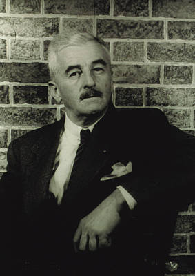 William Faulkner, Portrait By Carl Van Art Print by Everett