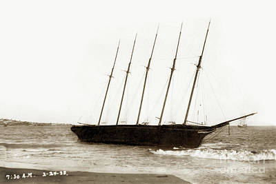 Photograph - William H. Smith Built 1899  Schooner, 5-masted Feb 24, 1933 by California Views Mr Pat Hathaway Archives