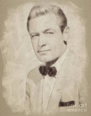 Musicians Drawings - William Holden, Hollywood Legend by John Springfield by Esoterica Art Agency