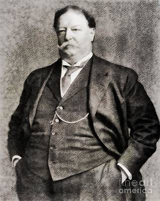 William Howard Taft, President Of The United States By John Springfield Art Print by John Springfield