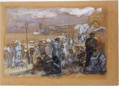 William James Glackens    Afternoon At Coney Island Art Print