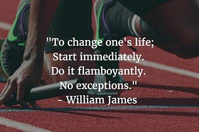 Photograph - William James Quote by Matt Create
