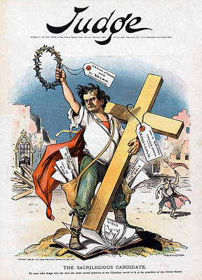 William Jennings Bryan And The Cross Art Print by Everett