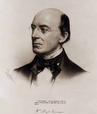 William Lloyd Garrison 1805-1879 Joined Art Print