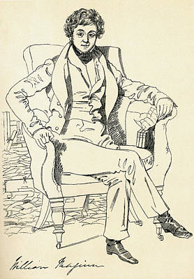 Autographed Drawing - William Maginn The Doctor, 1794 - 1842 by Vintage Design Pics