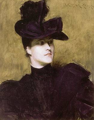 Painting - William Merritt Chase, Lydia Field Emmett by Celestial Images
