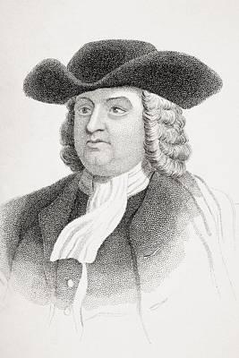 William Penn 1644-1718 English Quaker Art Print by Vintage Design Pics