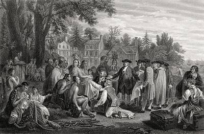 William Penn S Treaty With The Indians Print by Vintage Design Pics