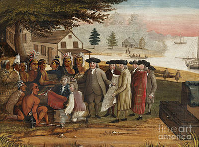 William Penns Treaty With The Indians Art Print