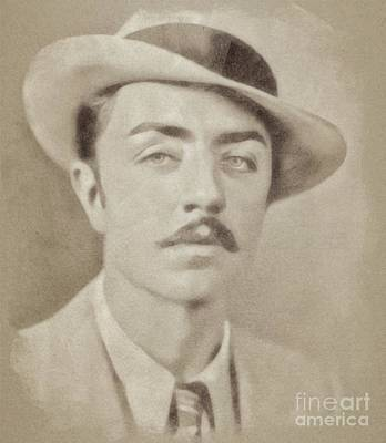 Musicians Drawings Rights Managed Images - William Powell, Hollywood Legend by John Springfield Royalty-Free Image by Esoterica Art Agency