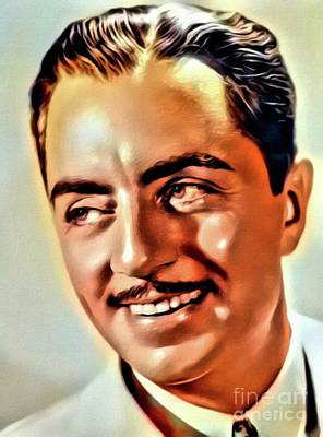 Business Digital Art - William Powell, Vintage Actor. Digital Art By Mb by Mary Bassett