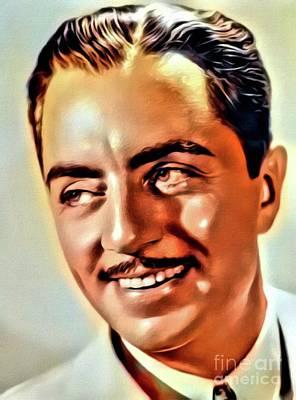 Singer Digital Art - William Powell, Vintage Actor. Digital Art By Mb by Mary Bassett
