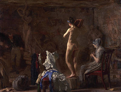 Unclothed Painting - William Rush Carving His Allegorical Figure by Thomas Eakins